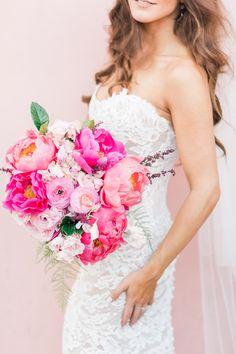hot pink bouquet - p