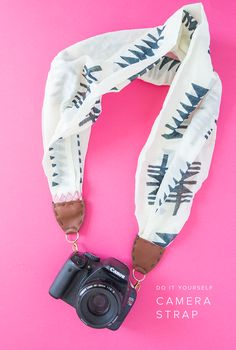 DIY camera strap from a scarf (and video!) - The House That Lars Built