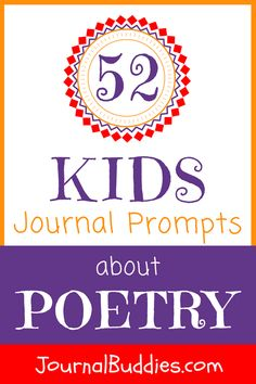 Help your students discover their inner poets with these journal prompts! Celebrating poetry is a wonderful opportunity to help them appreciate the art more deeply. via @journalbuddies