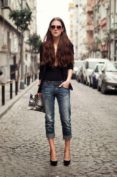 Istanbul street style russian fashion blogger leather jacket outfit - Katerina Kraynova On Pinterest Neon Rocks And Fashion