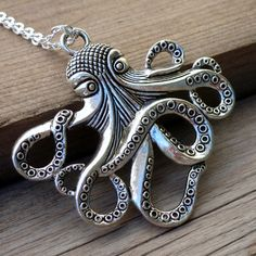 Steampunk  Necklace Victorian pendant charm pirate jewelry nautical marine DR. OCTOPUS. $6.99, via Etsy.