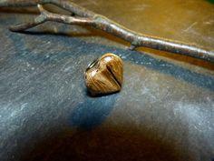 "Unikat Zebrano Ring Holzring ""Heart"" Herz from Treety by DaWanda.com"