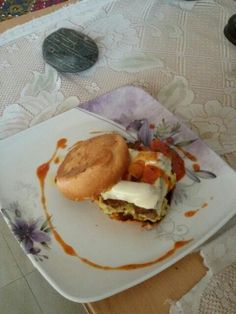 Breakfast burger.......yummmmy the best breakfast burgers ever by chef sahil