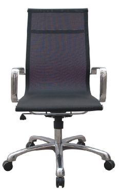 Woodstock Joan Mesh High Back is one of our most popular chairs for conference, management or executive applications. Available in a black or white mesh seat and back for excellent breathability. Conference Room Chairs, Mesh Chair, Woodstock, Polished Chrome, Side Chairs, Grey And White, The Originals, Office Chairs, Design