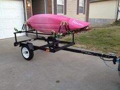 Kayak trailer hand built from Session 23 #kayakhacksdiy