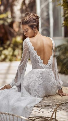 lihi hod fall 2020 bridal illusion long bishop sleeves bateau neckline sheer bodice a line boho wedding dress bv -- Lihi Hod Fall 2020 Wedding Dresses Western Wedding Dresses, Elegant Wedding Gowns, Luxury Wedding Dress, Backless Wedding, White Wedding Dresses, Boho Wedding Dress, Bridal Dresses, Western Weddings, Modest Wedding