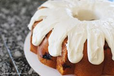 Strawberry pound cake with cream cheese icing