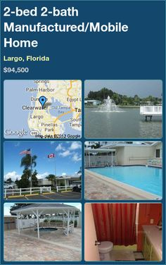 2-bed 2-bath Manufactured/Mobile Home in Largo, Florida ►$94,500 #PropertyForSale #RealEstate #Florida