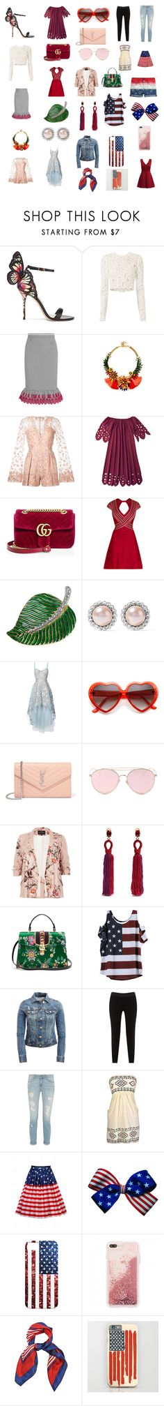"""""""Cute 2017"""" by mikahelaine ❤ liked on Polyvore featuring Sophia Webster, A.L.C., Altuzarra, Elizabeth Cole, Zuhair Murad, Gucci, Hervé Léger, Kenneth Jay Lane, Miu Miu and Notte by Marchesa"""