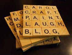 clumsy crafty happy: copycraft: scrabble coasters