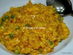 A comer y a callar: ARROZ CON POLLO CON THERMOMIX Cooking Chef, Easy Cooking, Cooking Recipes, Rice Recipes, New Recipes, Favorite Recipes, Recipies, Aroz Con Pollo, Spanish Dishes