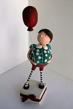 "Paper Clay sculpture ""Dot"""