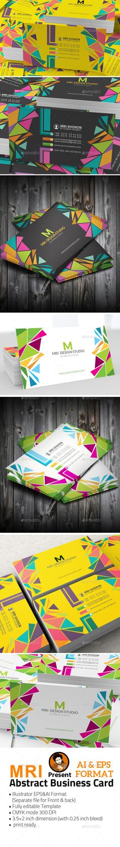 Abstract Business Card - Business Card Template Vector EPS, Vector AI. Download here: http://graphicriver.net/item/abstract-business-card/11935063?s_rank=1781&ref=yinkira