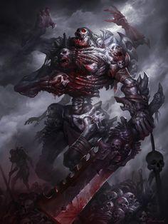 monster 1 – horror/fantasy knight concept by Hua Lu