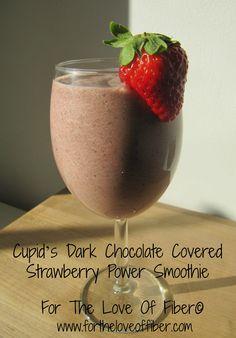 ~ Cupid's Dark Chocolate Covered Strawberry Power Smoothie