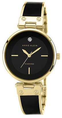 Anne Klein Ladies Two Tone Bangle Strap Watch #watches #womens