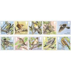Songbirds Stamp Set at Royal Mail Shop Royal Mail, Stationery, Nature, Stamps, Shopping, Image, Seals, Papercraft, Paper Mill