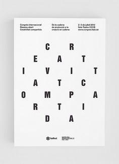 Creativitat Compartida poster by bisgrafic.com #bisgrafic #design #poster