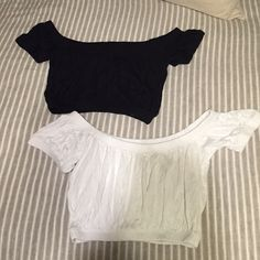 Asos crop tops Same size. Listing is for both. One black and one white. Fit anywhere from Xs-s. NWOT ASOS Tops Crop Tops