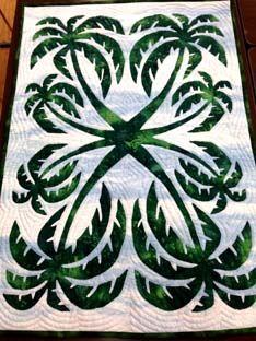 Beautiful Palm Trees Hawaiian style quilt