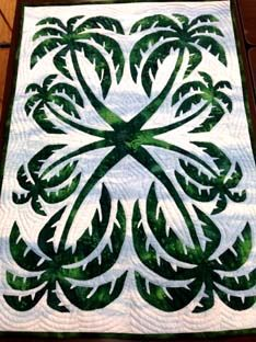 Beautiful Palm Trees Hawaiian style quilt
