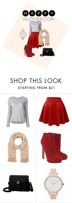 """""""Valentines day"""" by dalila-delic ❤ liked on Polyvore featuring Frame, LE3NO, Barneys New York, Alexander McQueen and Olivia Burton"""