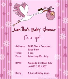Collection Of Thousands Free Baby Shower Invitation From All Over The World