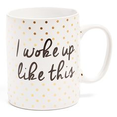 I woke up like this mug #giftguide