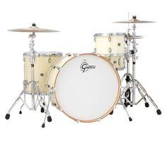 gorgeous gretsch catalina club 4 piece jazz drum set kit white marine pearl wrap with osp. Black Bedroom Furniture Sets. Home Design Ideas