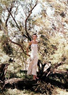 Photos PETER LINDBERGH for Vogue, Oct 1993 - Audrey Marnay, 'Night Light'