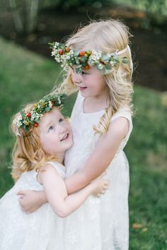 Little ones in flower crowns