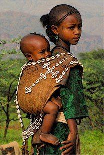 Girl and Baby, Tekeze River Ethiopia  bart henderson image