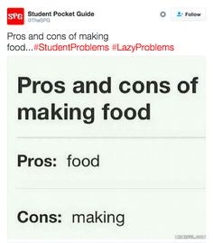 """When making food involves, well, """"making"""": 