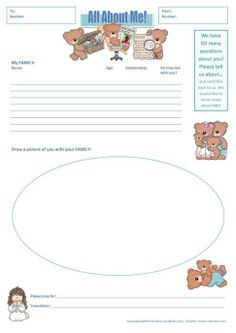 Send a Fun Questionnaire to share your world - Fill one out for you and send a blank for your sponsored child to fill out and send back - There are always a ton of things you want to know about your Compassion child (great for a first letter idea) | https://papergiftsforestefany.wordpress.com/ @compassion  #letterwriting #childsponsorship #kids #forkids  #freeprintable  #printables