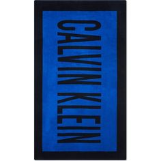 CALVIN KLEIN Printed logo cotton beach towel ($68) ❤ liked on Polyvore featuring home, bed & bath, bath, beach towels, calvin klein, logo beach towels and cotton beach towels