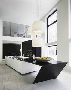 Elegant minimalist kitchen!