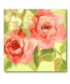 This Fresh Bloom V Wrapped Canvas is perfect! #zulilyfinds
