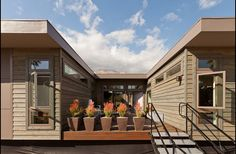 Another view of a two-container home...
