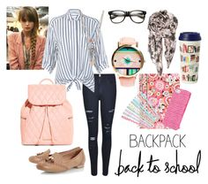 """""""Back to School: New Backpack"""" by emma-oloughlin ❤ liked on Polyvore"""