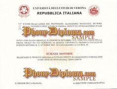 Seconda Universita Degli Studi Di Napoli Italy Fake Diploma Sample