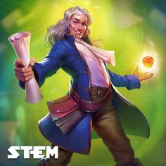 Sir Isaac was an English polymath who is widely recognized as one of the most influential scientists of all time. Isaac Newton, Love Drawings, Cartoon Drawings, Character Art, Character Design, Astronomy Facts, Science Illustration, E Mc2, Biblical Art