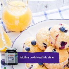 Muffins cu dulceață de afine de la Râureni Muffins, Pudding, Desserts, Food, Tailgate Desserts, Muffin, Deserts, Custard Pudding, Essen