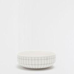 Geometric-detail porcelain bowl