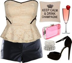 cute clubbing outfit by clauclau1002 on Polyvore