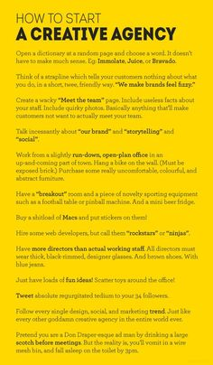 A Funny Take on How To Start A Creative Agency