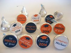 Personalized Graduation Party Favors Hershey by digitalartstar
