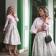 Get this look: http://lb.nu/look/8600465  More looks by Madalina Gugila: http://lb.nu/styleisfresh  Items in this look:  Womanfashion.Ro Skirt, Tommy Hilfiger Shirt   #chic #romantic