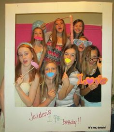 Teen Polaroid Party – It's me, debcb! Teenage Girl Birthday, Teenager Birthday, 14th Birthday Party Ideas, 16th Birthday, Teen Girl Parties, Hotel Party, Teen Fun, Sleepover Party, Slumber Parties