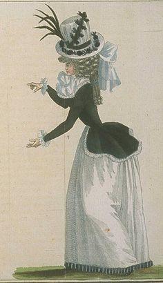 Magasin des Modes, Mars 1789 - Tres Longue Caraco