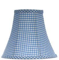 81627 Blue Gingham Chandelier Shade  #glass #lampshades #sconces #silk #diffusers #lamp #finial #student #chimneys #shades